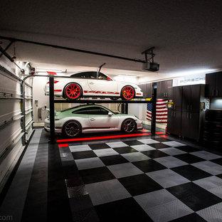 Idéer för tillbyggda fyrbils garager och förråd