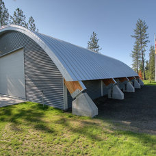 Contemporary Garage And Shed by Copeland Architecture & Construction Inc