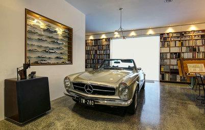 室内から愛車を眺めるビルトインガレージ11選