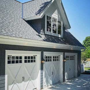 Réalisation d'un garage pour trois voitures attenant tradition.