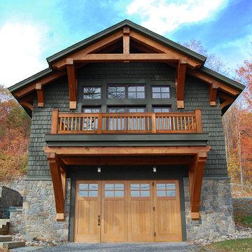Timber Frame Home & Boat Shelter