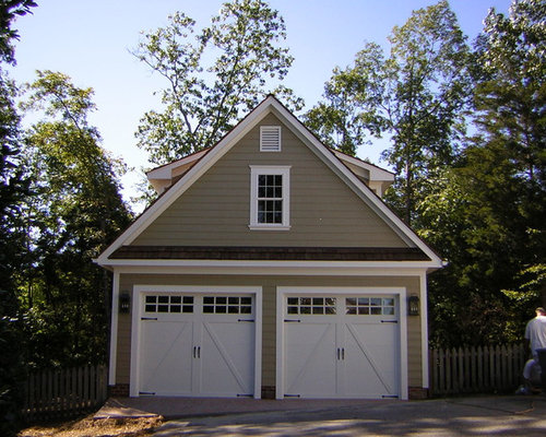 Traditional Garage And Matching Shed