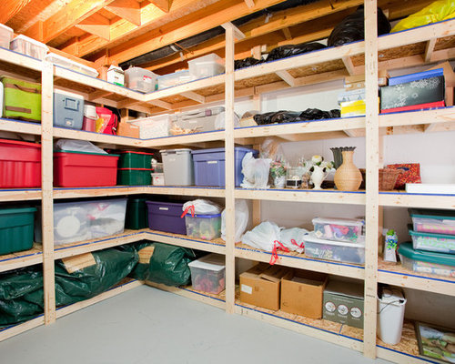 Basement Storage Home Design Photos Acbfeb W H B P Traditional ...