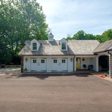 Traditional Colonial Estate Exterior, 4 Car Garage and Workshop