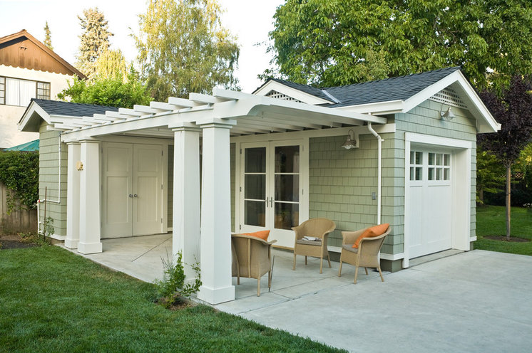 Pergolas pump up curb appeal for Shed with carport attached