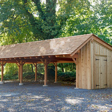 Traditional Garage And Shed by Mid-Atlantic Timber Frames