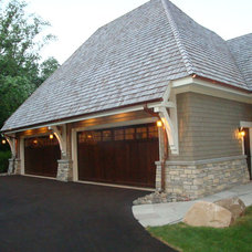 Traditional Garage And Shed by Sharratt Design & Company
