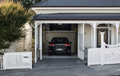 Houzz Tour: Ingenious Garage Helps a Home Keep Its Familiar Face