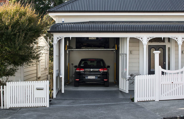 houzz tour ingenious garage helps a home keep its familiar face