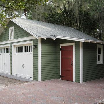 Two-Car Bungalow Garage in Gainesville, FL