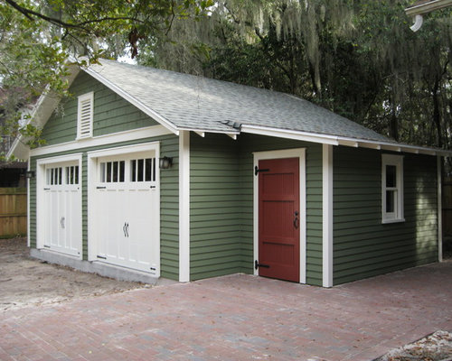 Two car detached garage in gainesville for Craftsman style shed plans
