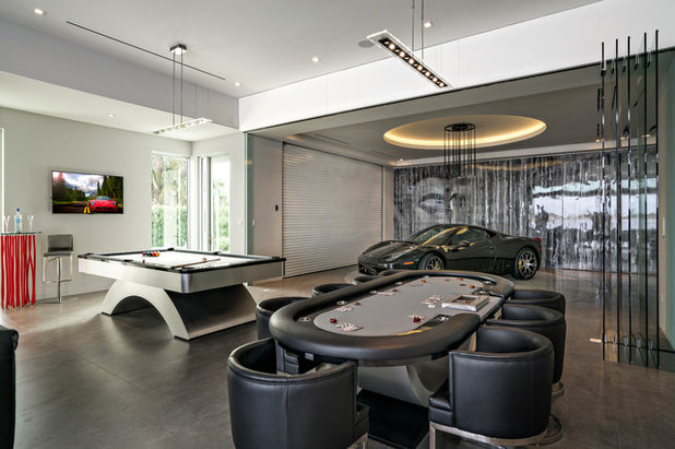 Contemporary Garage by Architectural Photographer Ron Rosenzweig