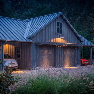 Inspiration for a large cottage detached four-car carport remodel in San Francisco