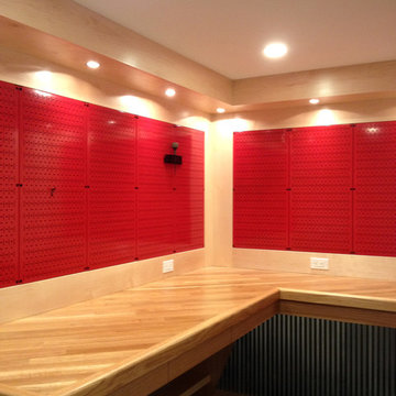 Wall Control Red Metal Pegboard Ready For Tool Storage Organization