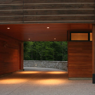 Inspiration for a contemporary carport remodel in Cincinnati