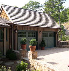 traditional garage and shed by McKEE CARSON