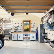 Contemporary Garage And Shed by Eckman Consulting & Management
