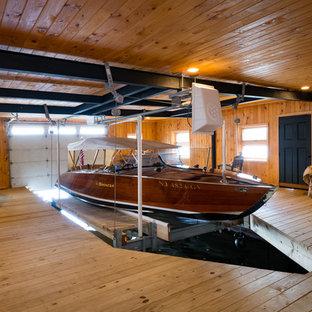Inspiration för ett mellanstort rustikt fristående båthus