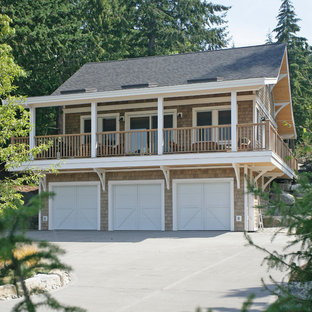 Design ideas for a beach style garage in Vancouver.