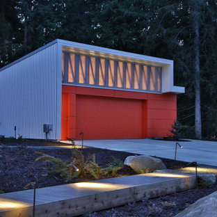 Design ideas for an industrial detached two-car garage in Seattle.