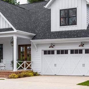 Idéer för en lantlig tillbyggd garage och förråd