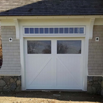 White Carriage House Garage Door