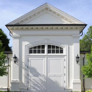 Exempel på en klassisk enbils garage och förråd