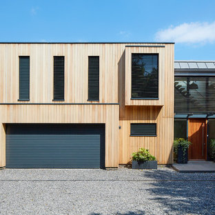 Contemporary attached garage in Berkshire.