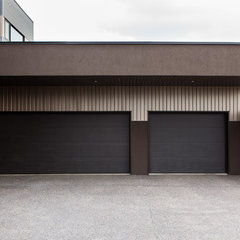 modern garage and shed by Habitat Studio & Workshop