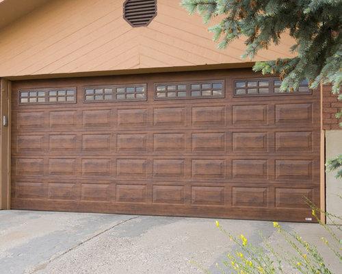Wood Grain Steel Garage Door Home Design Ideas Pictures