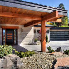 Contemporary Garage by Rock House Style