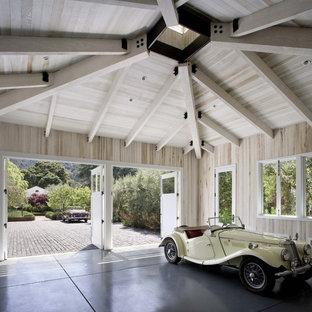 Exempel på en klassisk tvåbils garage och förråd