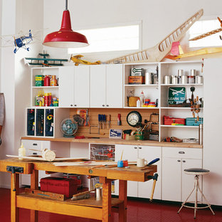 Garage workshop - mid-sized transitional garage workshop idea in San Francisco