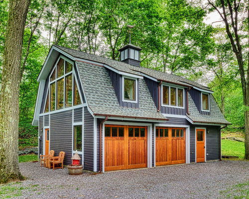 Country garage design ideas renovations photos for Separate garage cost