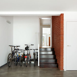 Inspiration for a mid-sized industrial detached two-car garage in Other.