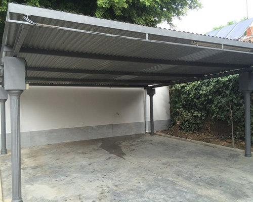 Fotos de garajes dise os de cocheras techadas de estilo - Garajes para coches ...