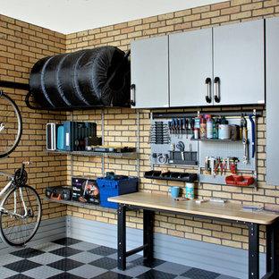 На фото: гараж в стиле лофт