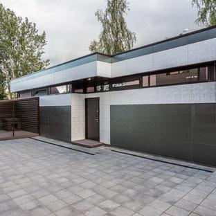 Неиссякаемый источник вдохновения для домашнего уюта: отдельно стоящий гараж в современном стиле