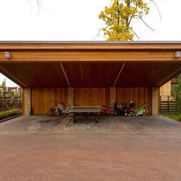 Навес-гараж для автомобилей и велосипедов (загородный дом в Ла Променад 2)