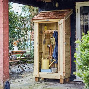 Idéer för små vintage trädgårdsskjul