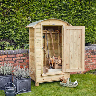 This is an example of a small traditional garden shed in West Midlands.