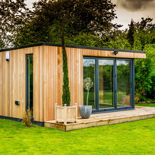 Photo of a small contemporary detached office/studio/workshop in Cheshire.