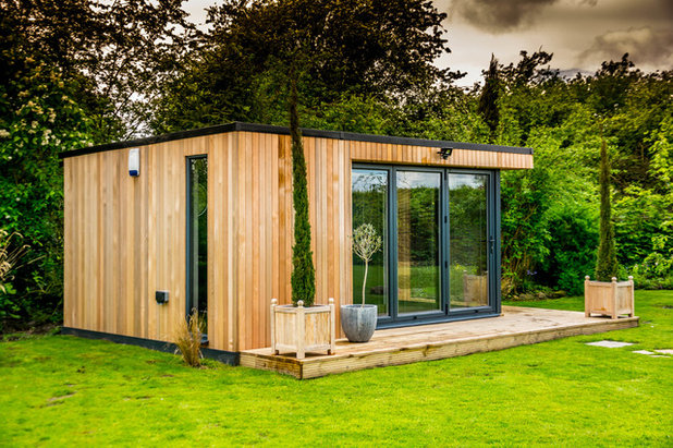 Contemporary Garden Shed and Building by The Swift Organisation Ltd