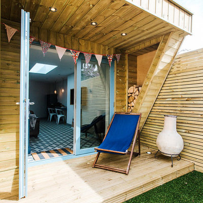 Mid-sized trendy detached studio / workshop shed photo in Other