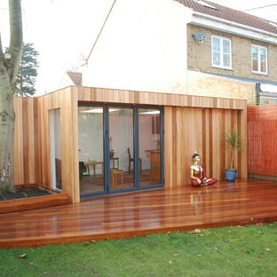 Design ideas for a contemporary shed and granny flat in London.