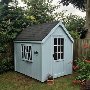 Classic Cosy Shed 8'x6' in Blue Mist for James in Bosham - delivered and assembl
