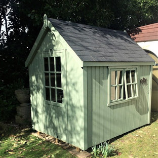 Inspiration for a medium sized modern detached garden shed in Other.
