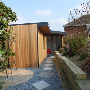Design ideas for a contemporary garden shed and building in Other.