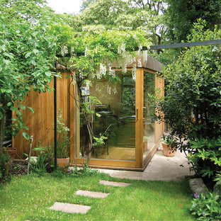 This is an example of a small contemporary detached studio in London.
