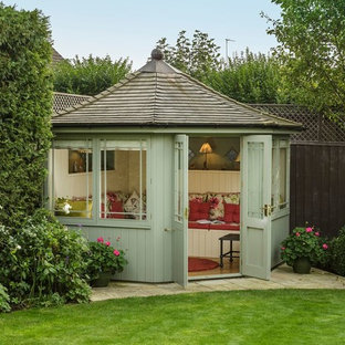 Design ideas for a medium sized traditional detached garden shed and building in Surrey.
